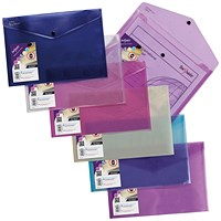 Snopake Polyfile Lite A4 Assorted (Pack of 5)