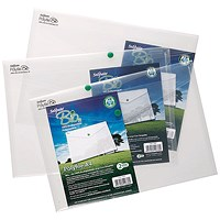 Snopake A4 Bio Polyfile, Clear, Pack of 5