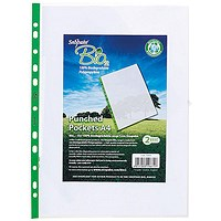 Snopake Bio A4 Punched Pockets - Pack of 25