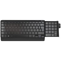 Silver Seal Number Slide Compact Keyboard Wired USB Black