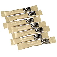Fairtrade Brown Sugar Sticks (Pack of 1000)