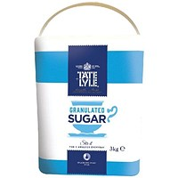 Tate & Lyle Pure Granulated White Cane Sugar - 3kg Drum with Handle