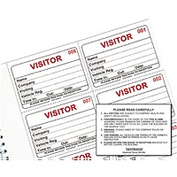 Identibadge Visitors Book Refill (Pack of 100)