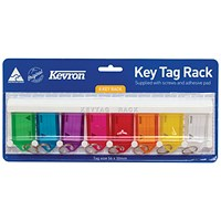 Kevron Standard Key Tags Assorted (Pack of 8) ID6TRL