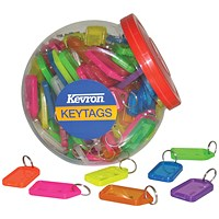 Kevron Plastic Clicktag Key Tag Large Assorted Tub (Pack of 70) ID30AC70