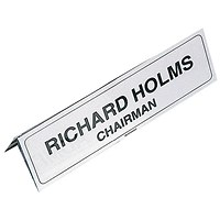 Name Holder, 65x210mm, White, Pack of 5