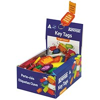 Kevron Plastic Clicktag Key Tag Assorted (Pack of 100) ID5AC100