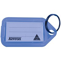 Kevron Plastic Clicktag Key Tag Blue (Pack of 100) ID5BLU100