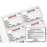 Identibadge System Visitors Book Refill (Pack of 300)