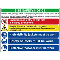 Spectrum Industrial Site Safety Notice Advanced FMX 800x600mm