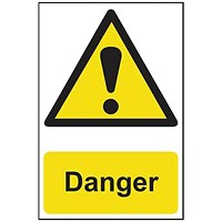 Spectrum Industrial Danger S/A PVC Sign 200x300mm