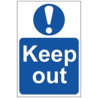 Spectrum Industrial Keep Out S/A PVC Sign 200x300mm 0255