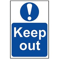 Spectrum Industrial Keep Out S/A PVC Sign 400x600mm