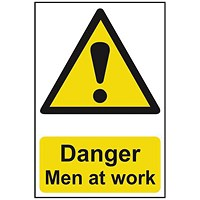 Spectrum Industrial Danger Men At Work S/A PVC Sign 400x600mm