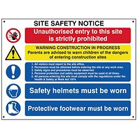Spectrum Industrial Site Safety Notice Basic FMX 800x600mm