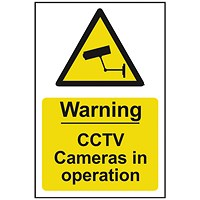 Spectrum Industrial Warning CCTV Cameras In Op S/A PVC Sign 200x300mm