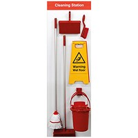 Spectrum Industrial Shadowboard Cleaning Station B Red SB-BD02-RD
