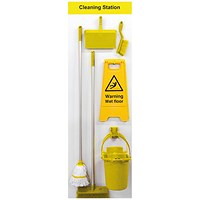 Spectrum Industrial Shadowboard Cleaning Station B Yellow SB-BD02-YL
