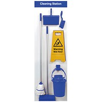 Spectrum Industrial Shadowboard Cleaning Station B Blue SB-BD02-BL