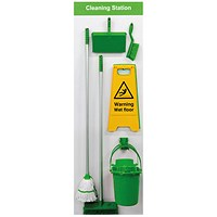 Spectrum Industrial Shadowboard Cleaning Station B Green SB-BD02-GR