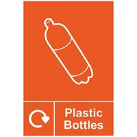 Spectrum Industrial Recycle Sign Plasticbottle 150x200mm SAV
