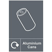 Spectrum Industrial Recycle Sign Aluminium Cans 150x200mm SAV