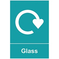 Spectrum Industrial Recycle Sign Glass 150x200mm SAV