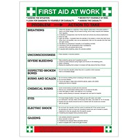 Safety Sign First Aid At Work (420 x 590mm)