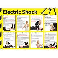 Health and Safety 420x594mm Electric Shock Poster