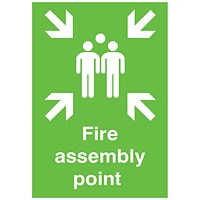 Safety Sign Fire Assembly Point A2 PVC