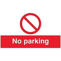 Safety Sign No Parking 300x500mm PVC