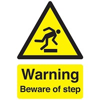 Safety Sign Warning Beware of Step A5 Self-Adhesive