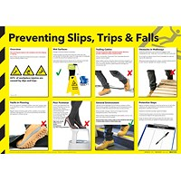 Health and Safety Wallchart - Preventing Slips Trips and Falls