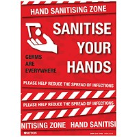 Sanitise Your Hands S/A Vinyl A3