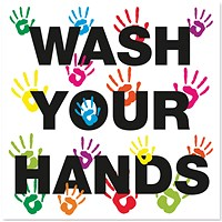 Wash Your Hands 200x200mm S/A Vinyl