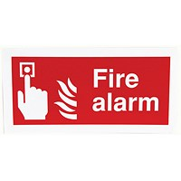 Safety Sign Fire Alarm 100x200mm Self-Adhesive