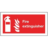 Safety Sign Fire Extinguisher Symbol 100x200mm Self-Adhesive