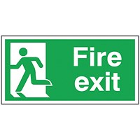 Safety Sign Fire Exit Running Man Left 150x300mm Self-Adhesive