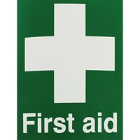Safety Sign First Aid 150x110mm Self-Adhesive