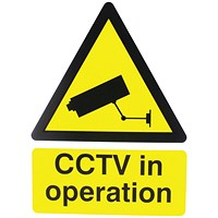Warning Sign 400x300mm CCTV In Operation PVC
