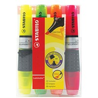 Stabilo Luminator Highlighter, Assorted, Pack of 4