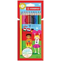 STABILO Color 12 Premium Colouring Pencils with Hexagonal Barrel (Pack of 6) Assorted
