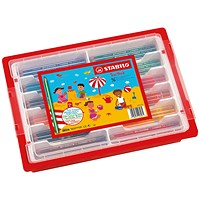 Stabilo Trio Thick Colouring Pencils Classpack (Pack of 96)