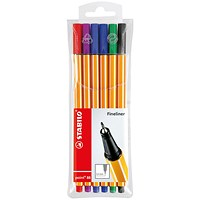 Stabilo 88 Point Fineliners Wallet Assorted (Pack of 10)