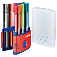 Stabilo Pen 68 Fibre Tip Pen Assorted (Pack of 20)