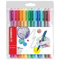 Stabilo Point Max Fineliner Pen Assorted (Pack of 12)