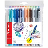 Stabilo Point Max Fineliner Pen Assorted (Pack of 24)