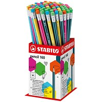 Stabilo 160 Pencil with Eraser Mini Display (Pack of 72)