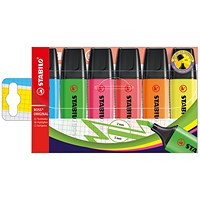 Stabilo Boss Highlighters, Assorted Colours, Wallet of 6