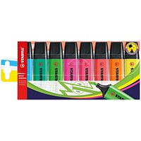 Stabilo Boss Highlighters, Assorted Colours, Pack of 8
